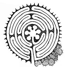 Le tracé du labyrinthe