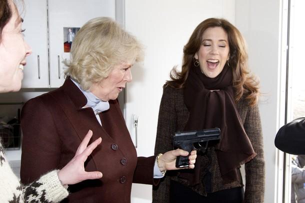 Camilla i Maryja w telewizji